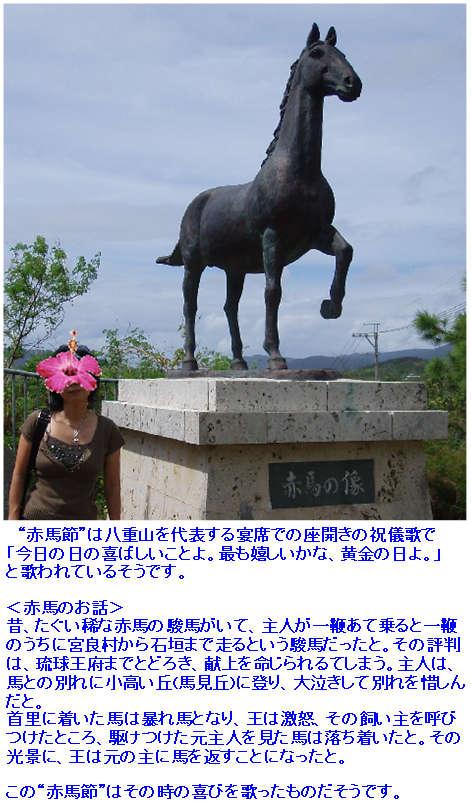 石垣島・川平の宿泊なら Hills Yamabare 赤馬の像