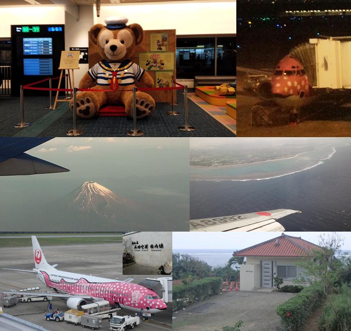 羽田 空港 ダッフィー サクラジンベエ機 富士山 サンゴ礁 石垣 ヒルズヤマバレ