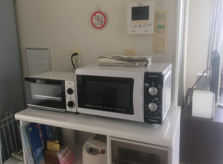 ヒルズヤマバレ キッチン 電子レンジ オーブントースター