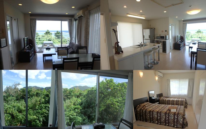 ヒルズヤマバレ レンタルハウス リビング キッチン ビューバス 寝室 サンゴ礁 眺望