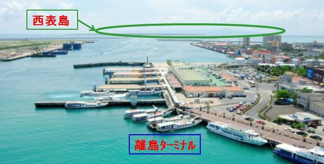 ひるずやまばれ 高速船 離島ターミナル 西表島