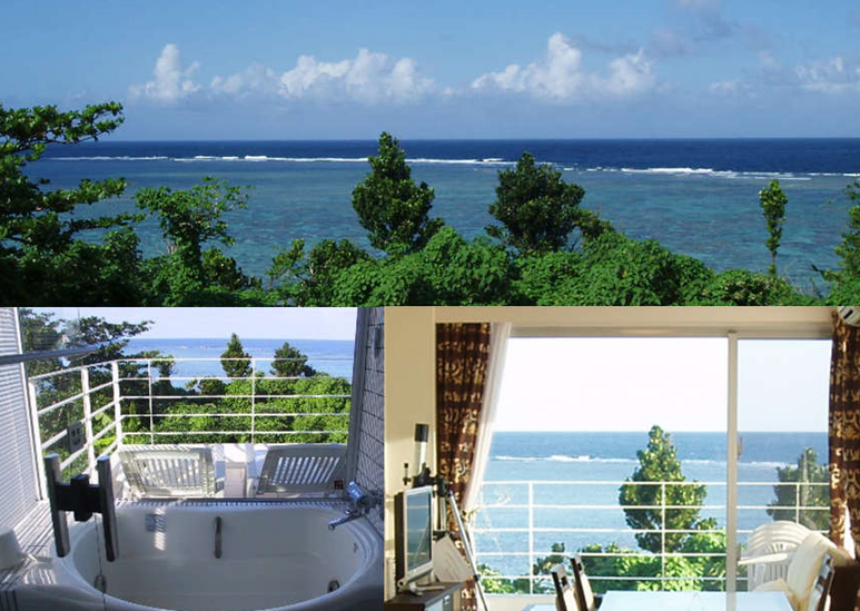 ヒルズヤマバレ テラス ビューバス サンゴ礁 眺望