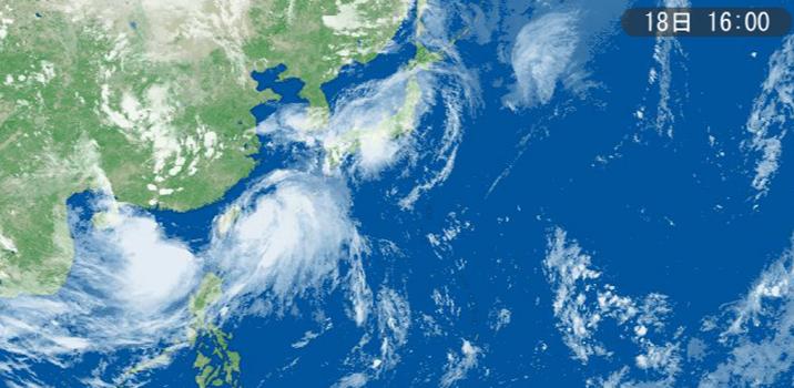 ひるずやまばれ 台風 雲 くずれ 弱い 大きい