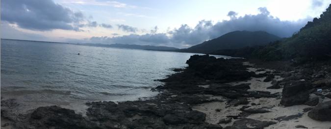 Hillsyamabare 目の前の海 東シナ海 サンゴ礁 浜 専用小道