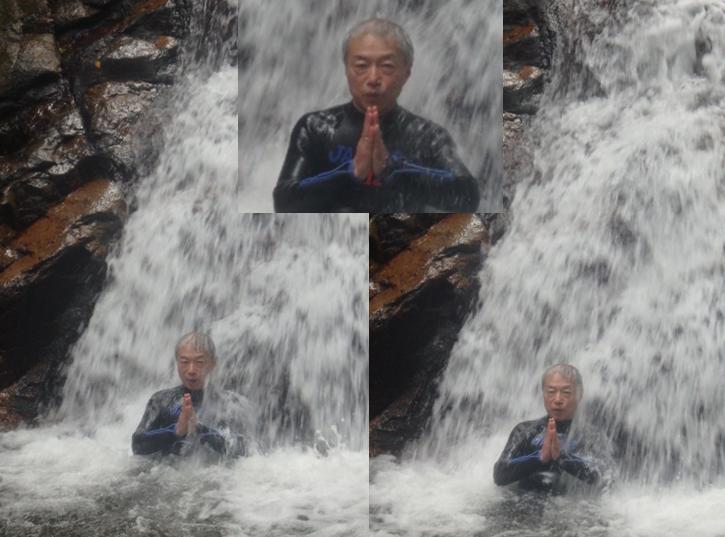 荒川の滝 滝修行 真似