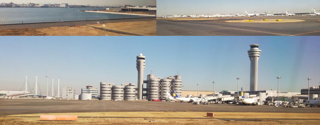 着陸 羽田空港